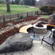 Dry Riverbed off Stone Patio