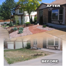 Before and After Front Yard Makeover 1