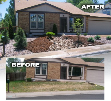 Before and After Front Yard Makeover 2