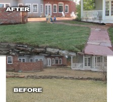 Back Yard Makeover Before and After