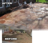 Large Patio Before and After