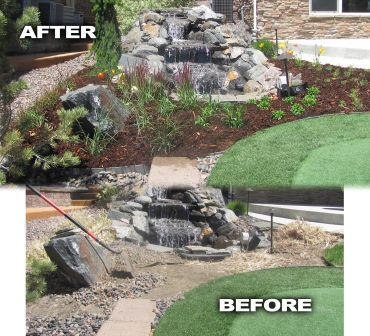 Water Feature Before and After