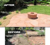 Firetable and Patio Before and After