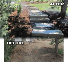 Entrance Stairs Before and After