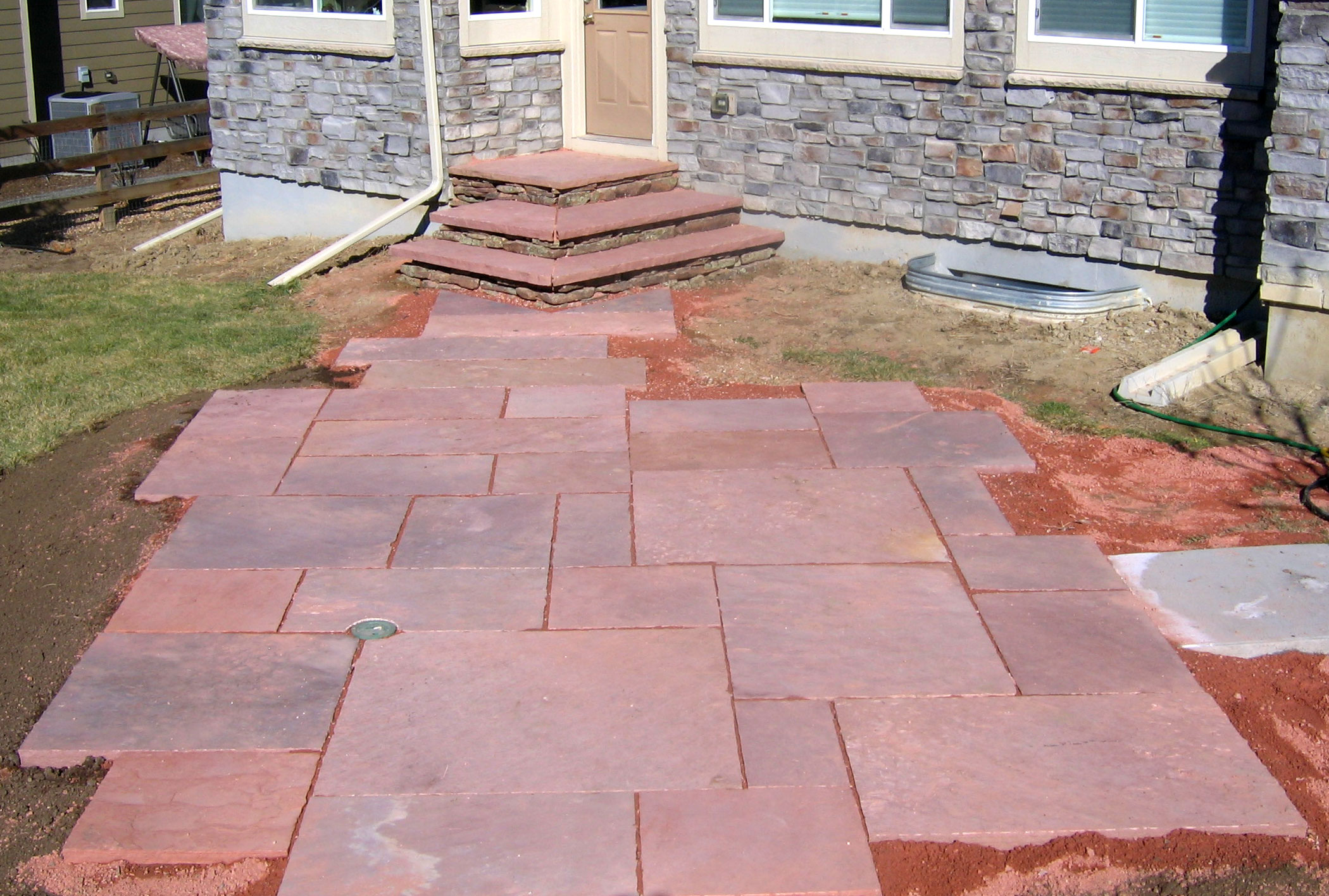 Stonework and hardscapes glacier view landscape and for Pics of stone patios