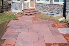 cut flagstone patio and stairs (overall view)