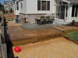 Kids' Play Area and Buff Colored Flagstone Patio #2