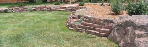 Moss rock wall near Lafayette CO