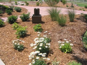 Water fountain landscape project near Lafayette CO