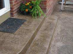 Colored Concrete Steps Example