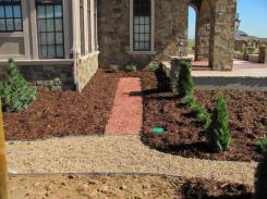 Castle Phase 1 Landscape Dry Riverbed/Rose Garden