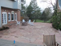 Finished Patio View