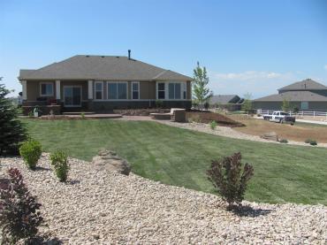 Brighton Colorado New Landscaper Back Yard New Install