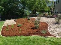 Rocks in a garden design