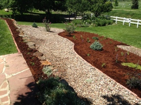 A landscaping project in Broomfield, Colorado