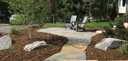 PA Bluestone patio near Louisville, Colorado