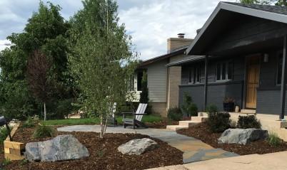 Bluestone patio near Lafayette Colorado
