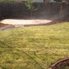 New Back Yard with Irrigation