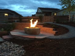 block wall and two colored patio-Fire2