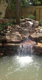 Koi Pond Waterfall Landscape #2 Superior