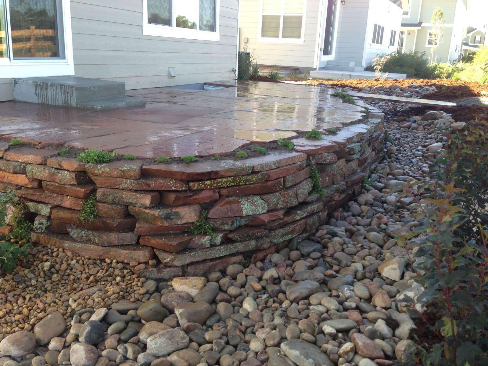Stone Walls Landscaping : Stonework and hardscapes glacier view landscape