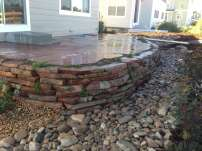 Louisville, Colorado area Patio, Bridge, Moss Rock Wall and Dry Riverbed Landscape #2