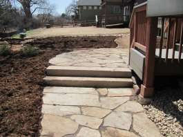 Buff Slab Stone Stairs and Patio Louisville