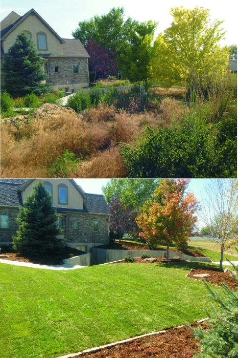 Before and After Rural Acreage Makeover.