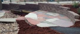 New Back Yard with Multicolor Flagstone.