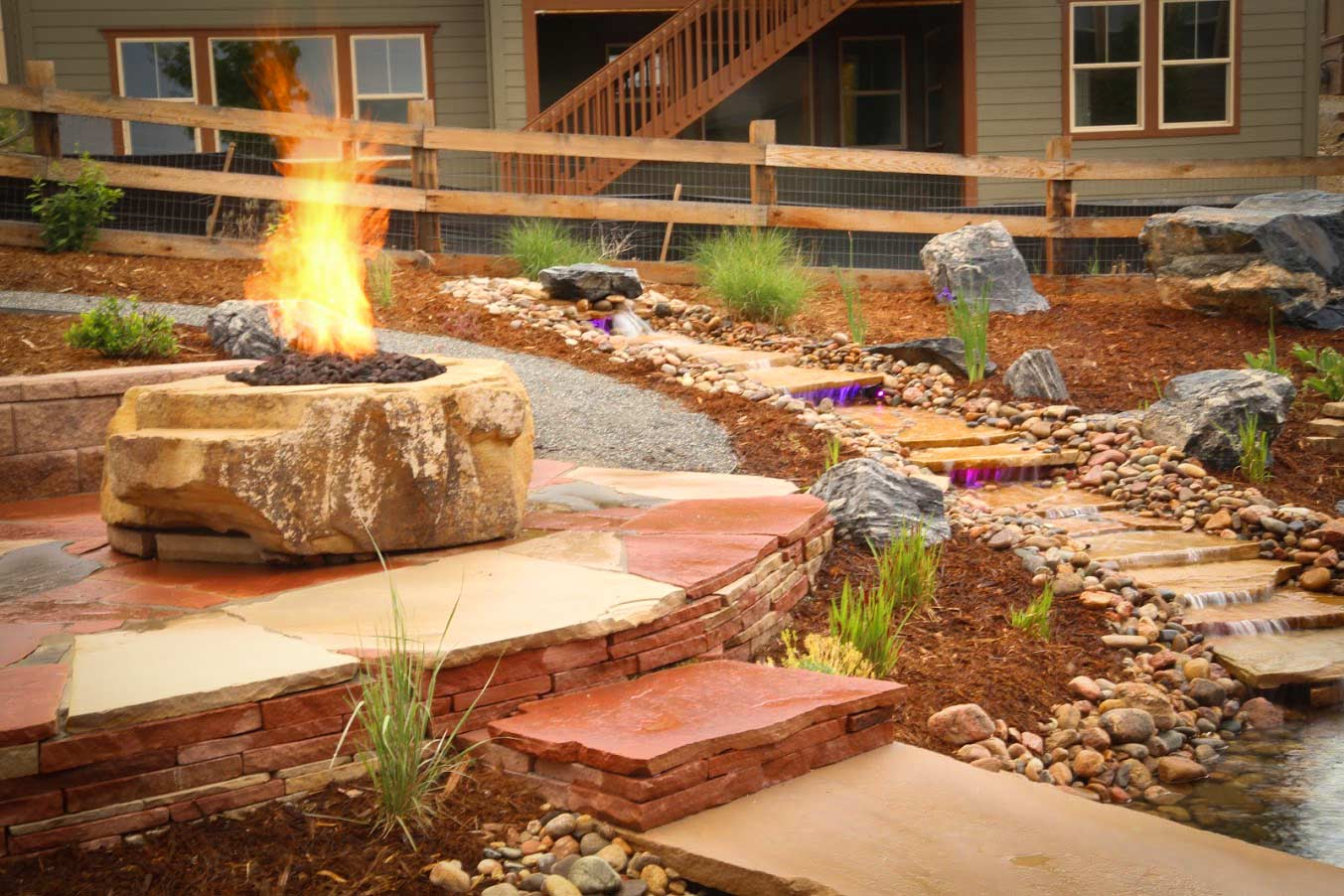Boulder landscaping resources glacier view landscape and for Local landscape designers