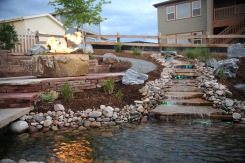 Water feature by Boulder, CO area landscape designers