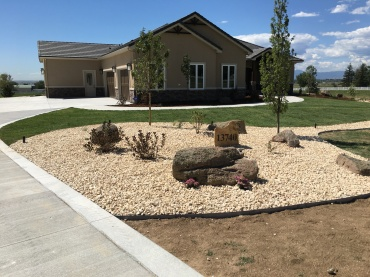 Front yard new build in Brighton, Colorado