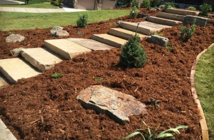 Slab-Stone-Stairs landscaping