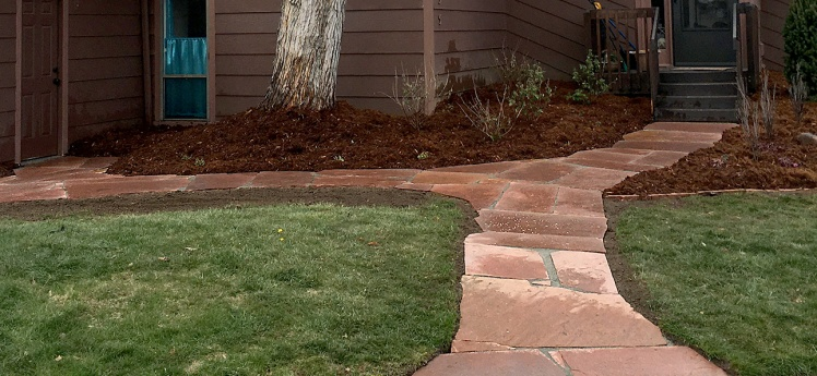 Boulder-COLORADO landscaping project-Front Yard Makeover-Flagstone Walkways-