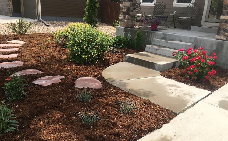 Front Yard Xeric Makeover-no grass-Brighton, COLORADO- New Landscapes
