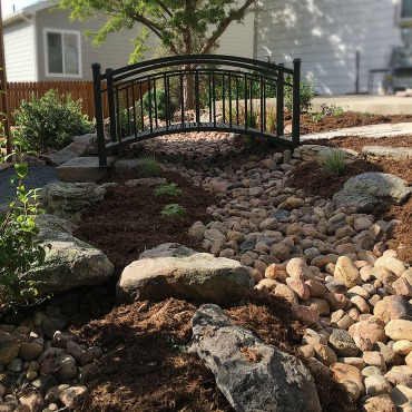 Dry Riverbed Erie Colorado landscaping project Garden Design